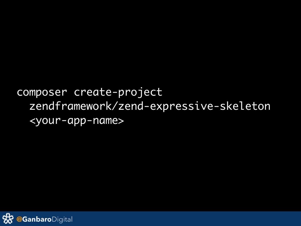@GanbaroDigital composer create-project zendfr...