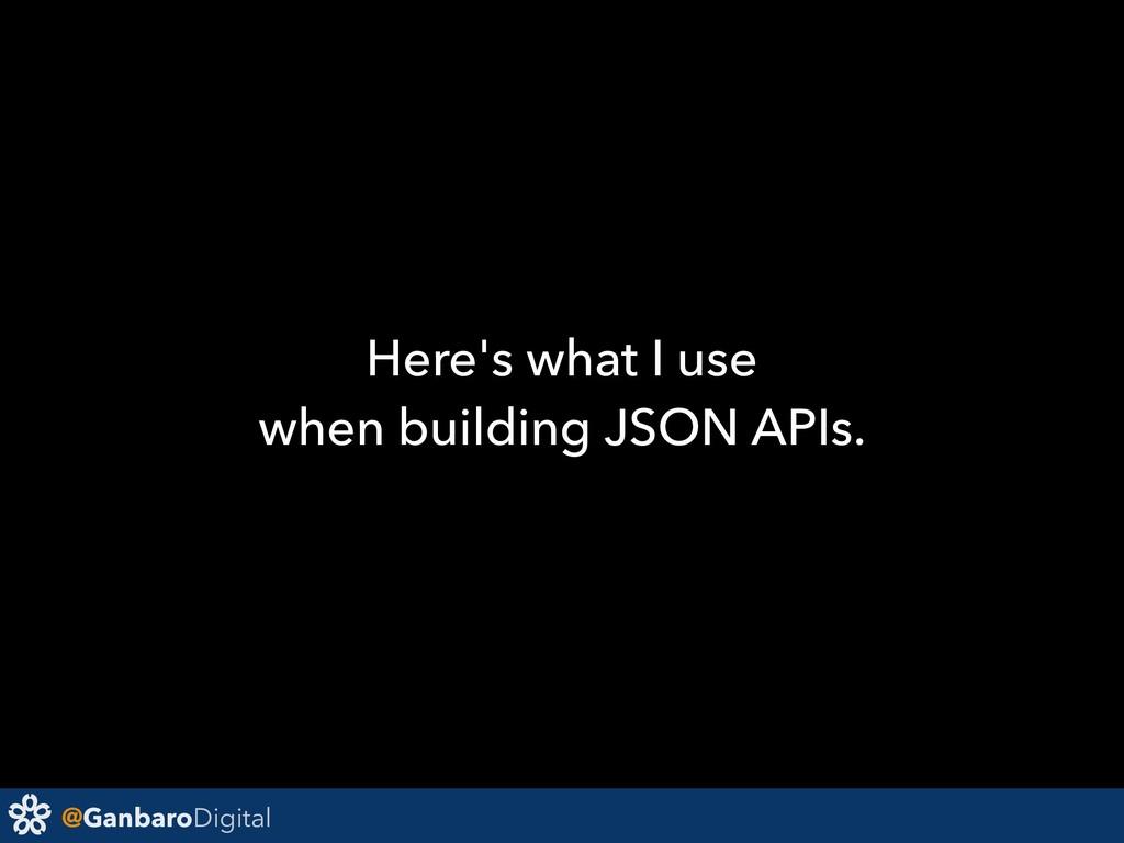 @GanbaroDigital Here's what I use when building...