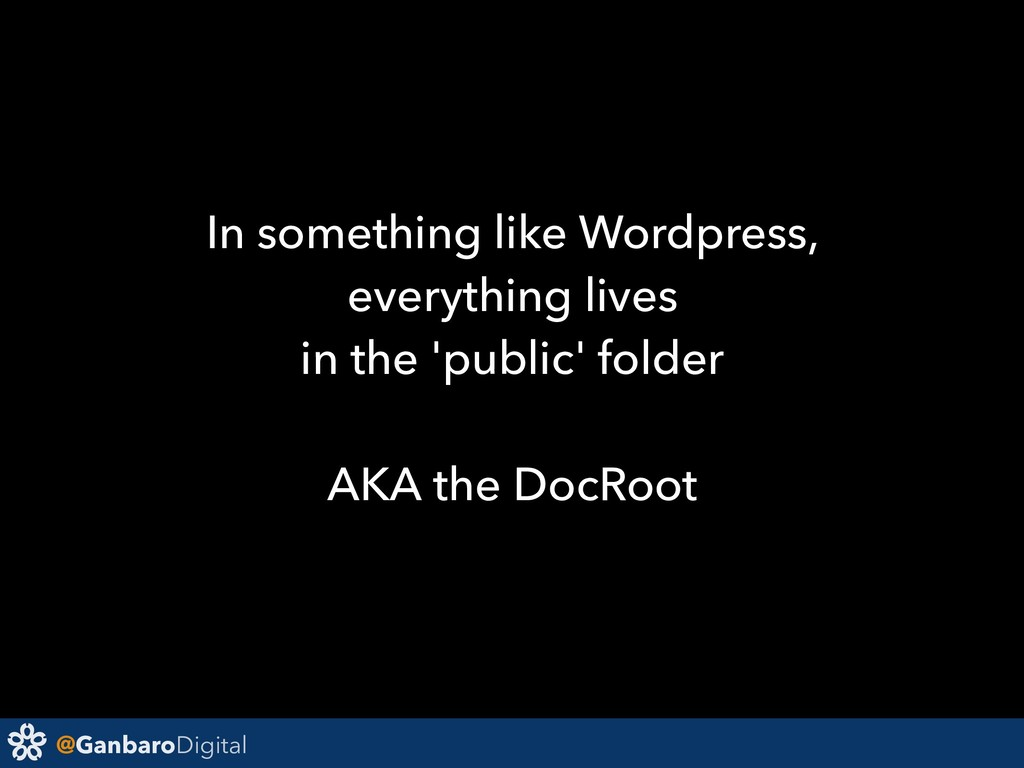 @GanbaroDigital In something like Wordpress, ev...