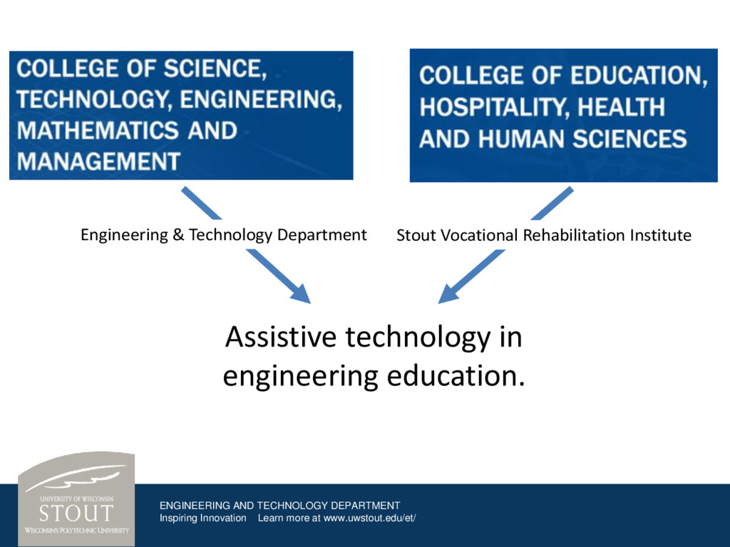 ENGINEERING AND TECHNOLOGY DEPARTMENT Inspiring...