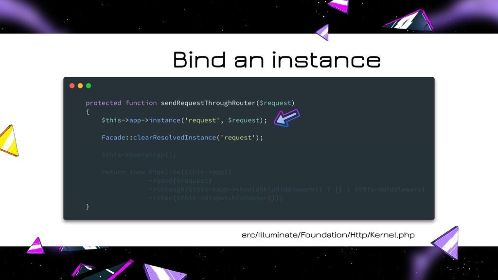 src/Illuminate/Foundation/Http/Kernel.php Bind ...