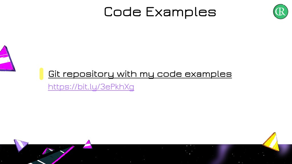 Code Examples Git repository with my code examp...