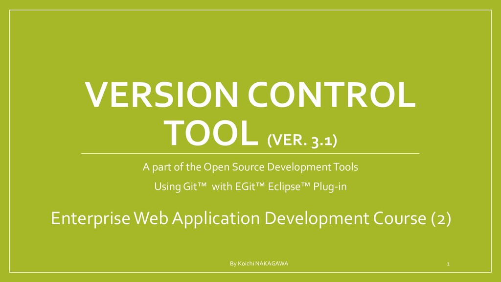BUILD TOOL A part of the Open Source Developmen...