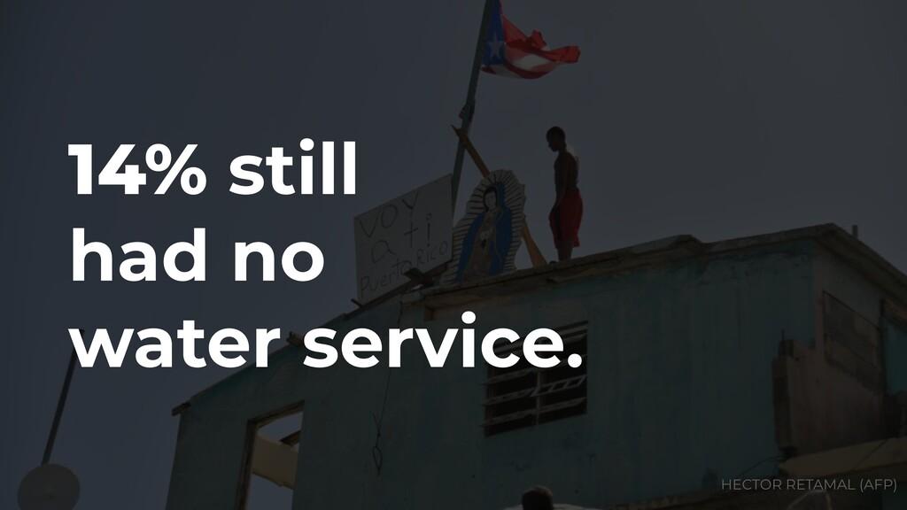14% still had no water service. HECTOR RETAMAL ...