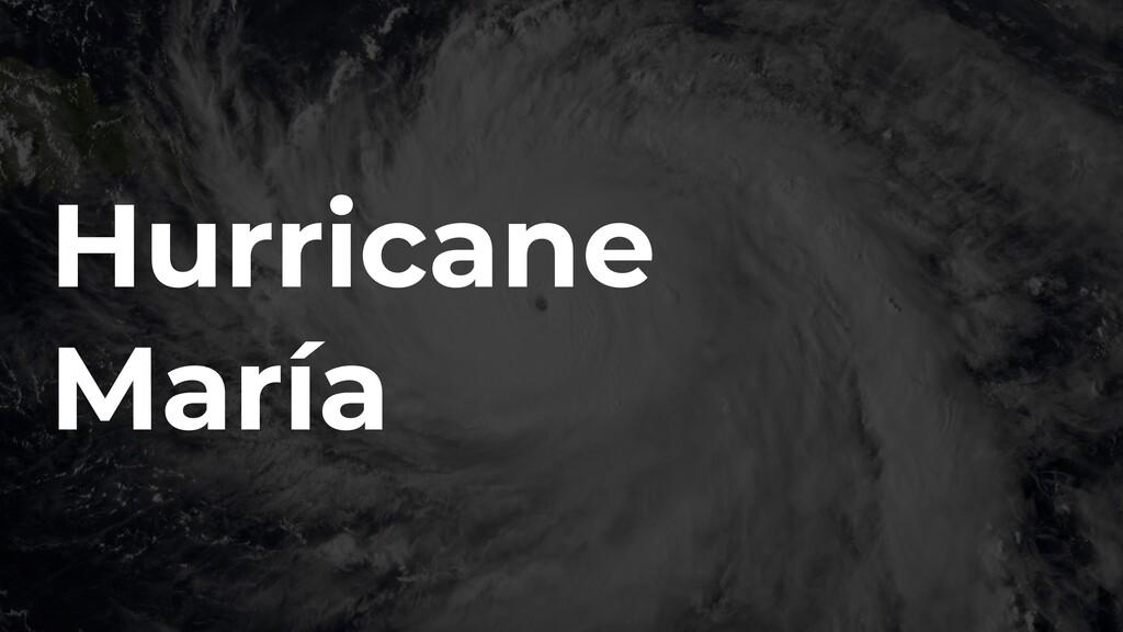 Hurricane María