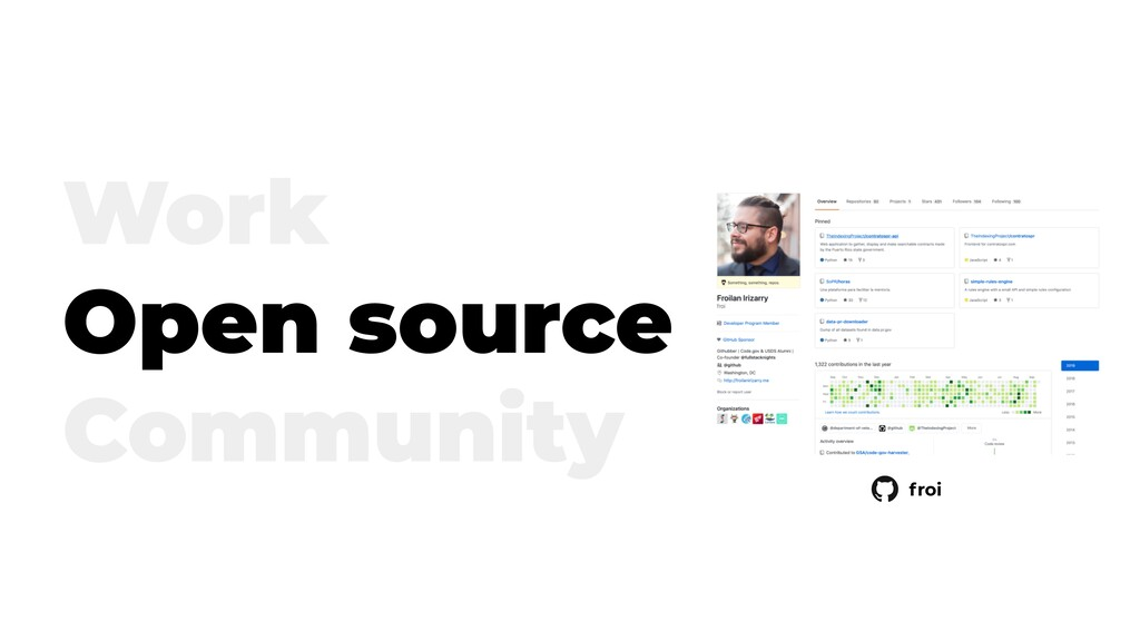 Work Open source Community froi