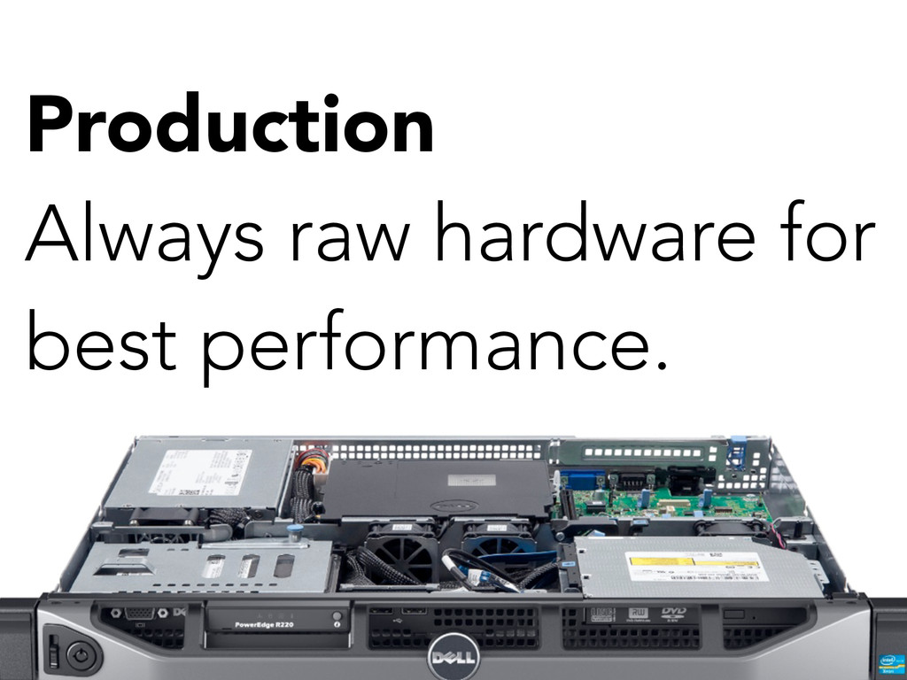 Production Always raw hardware for best perform...