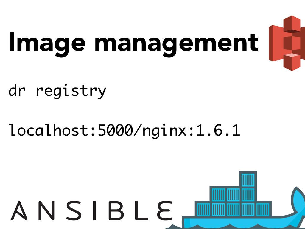 Image management dr registry localhost:5000/ngi...