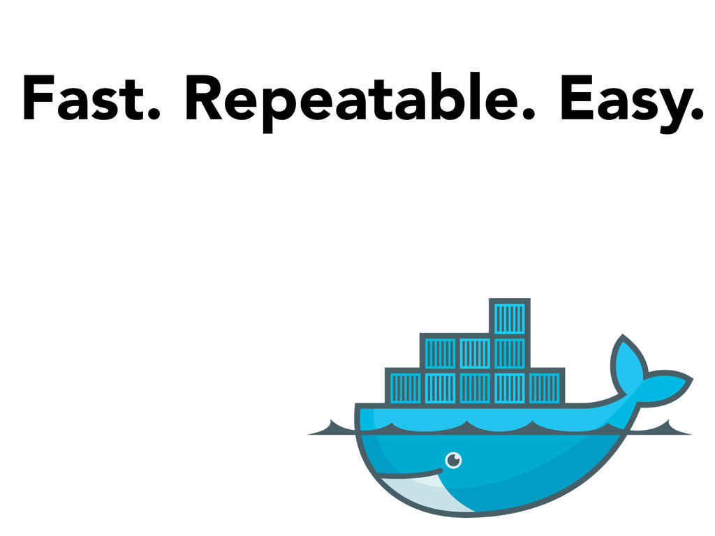 Fast. Repeatable. Easy.