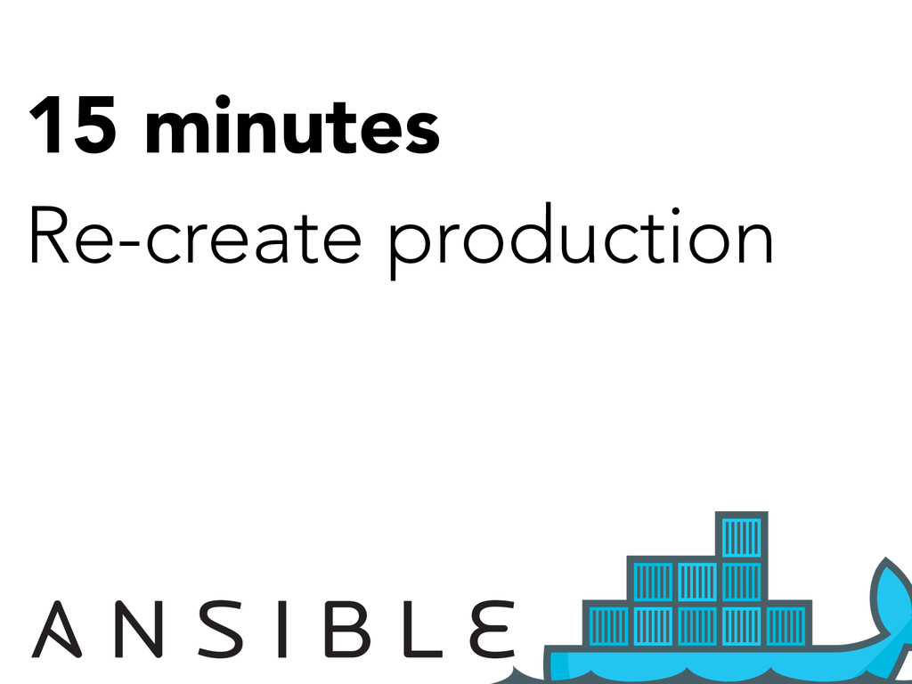 15 minutes Re-create production