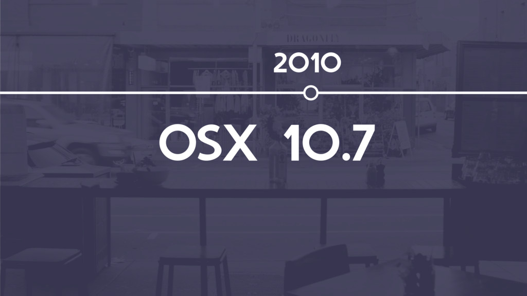 OSX 10.7 2010
