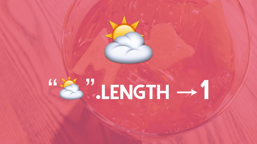 """⛅ """"⛅"""".LENGTH 1"""