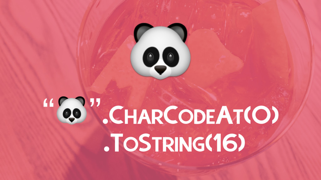 """"""""""".CHARCODEAT(0) .TOSTRING(16)"""