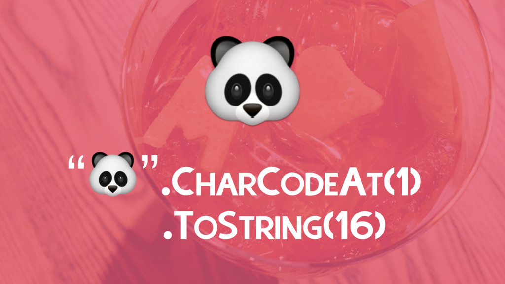 """"""""""".CHARCODEAT(1) .TOSTRING(16)"""