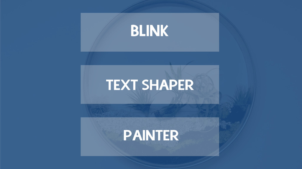 PAINTER TEXT SHAPER BLINK