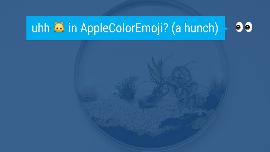 uhh  in AppleColorEmoji? (a hunch)