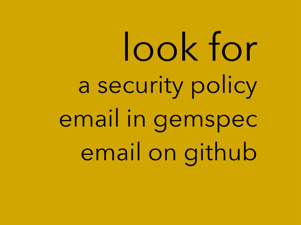 look for a security policy email in gemspec ema...
