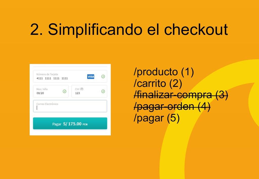 2. Simplificando el checkout /producto (1) /car...
