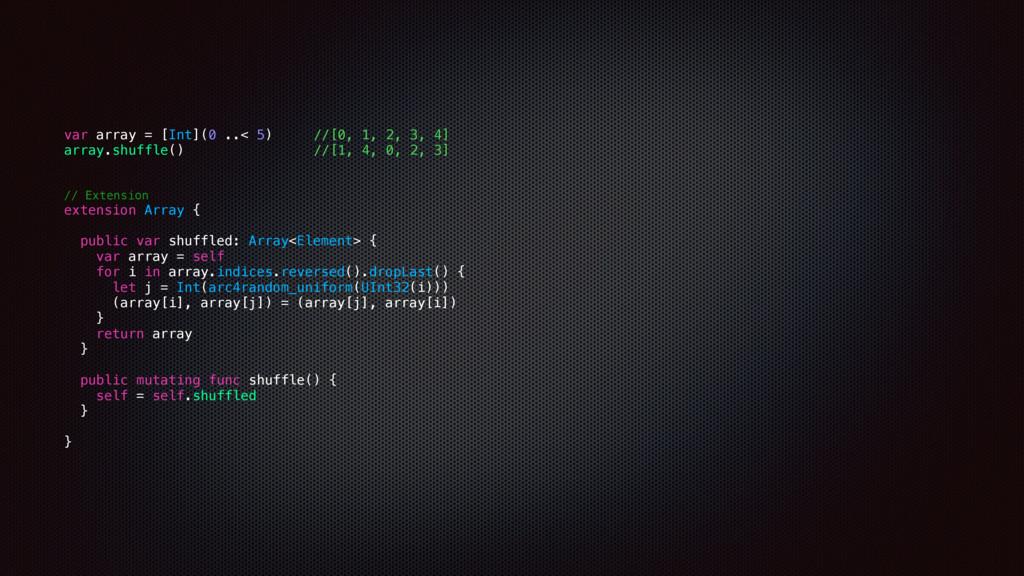 var array = [Int](0 ..< 5) //[0, 1, 2, 3, 4] ar...