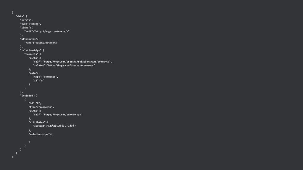 "{ ""data"":{ ""id"":""1"", ""type"":""users"", ""links"":{ ..."