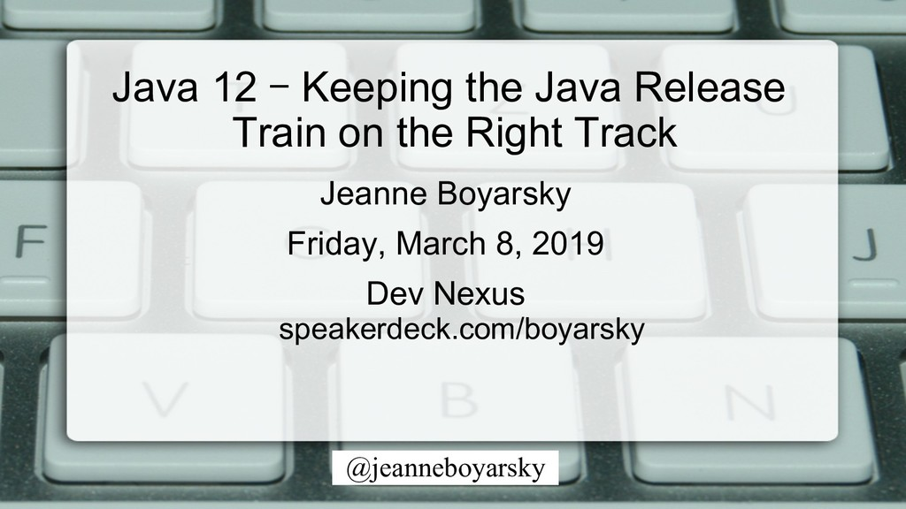 @jeanneboyarsky Jeanne Boyarsky Friday, March 8...