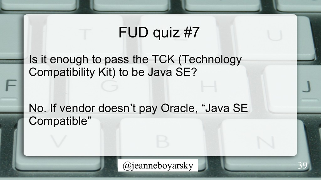 @jeanneboyarsky FUD quiz #7 Is it enough to pas...