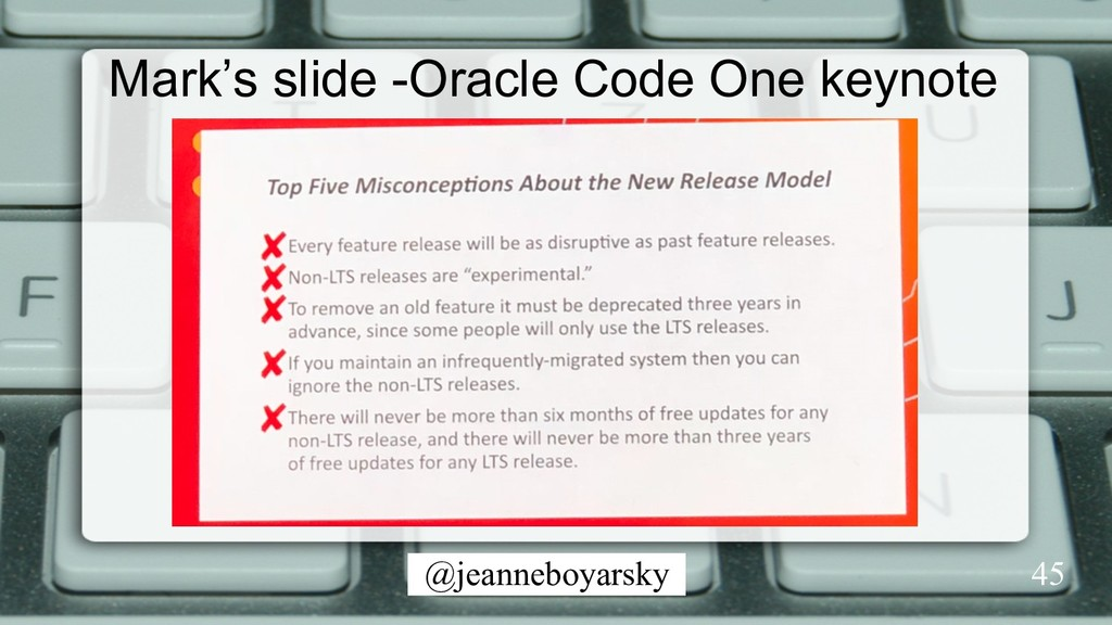 @jeanneboyarsky 45 Mark's slide -Oracle Code On...