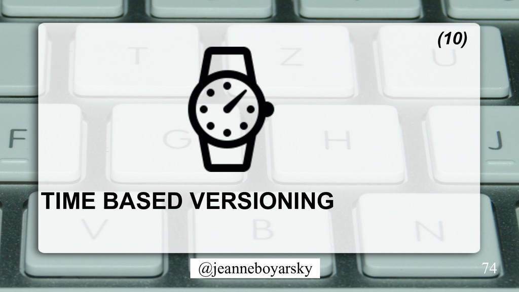 @jeanneboyarsky TIME BASED VERSIONING (10) 74