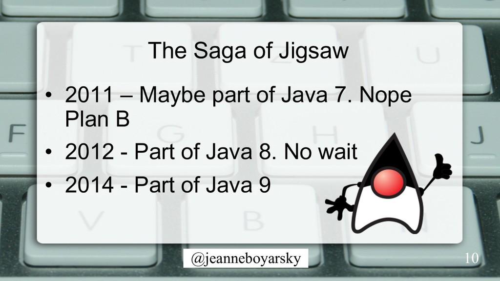 @jeanneboyarsky The Saga of Jigsaw • 2011 – Ma...