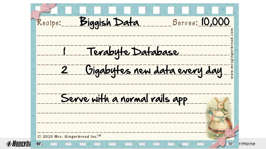 @StarrHorne t { Biggish Data         ...