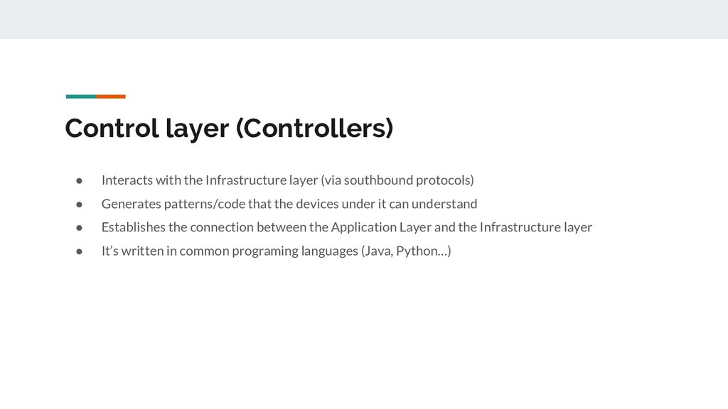 Control layer (Controllers) ● Interacts with th...