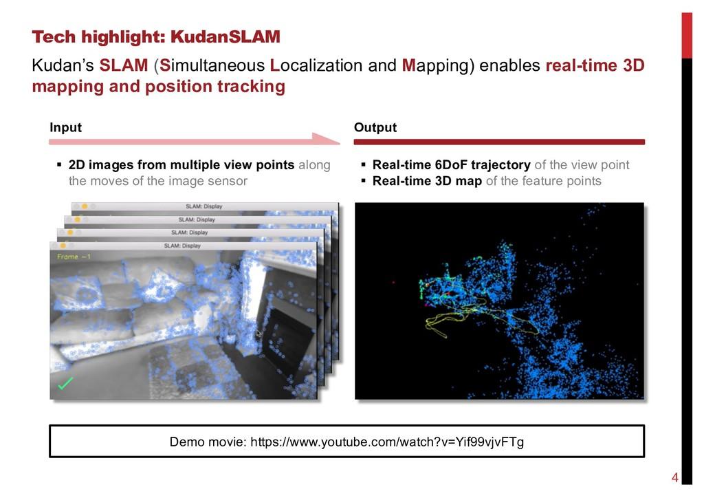 Tech highlight: KudanSLAM 4 Input Output Demo m...