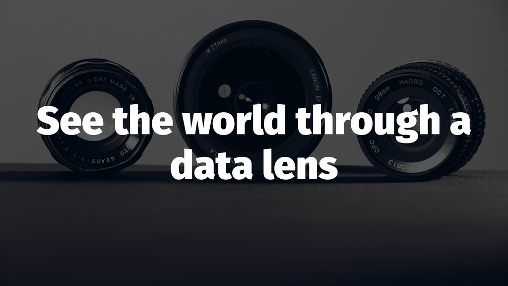 See the world through a data lens