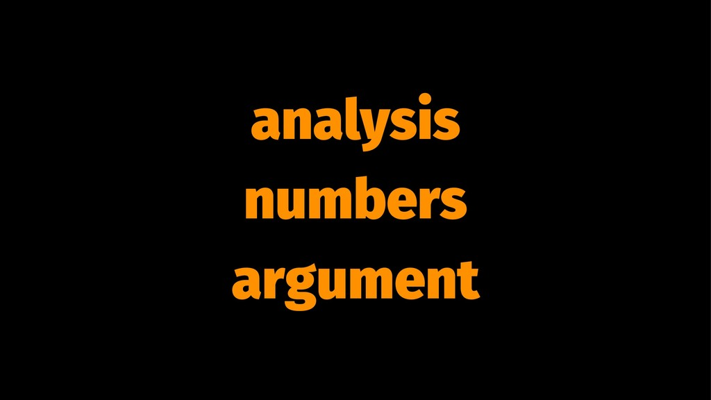 analysis numbers argument