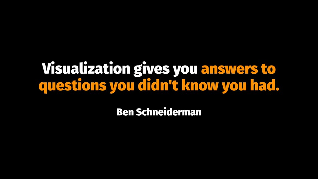 Visualization gives you answers to questions yo...