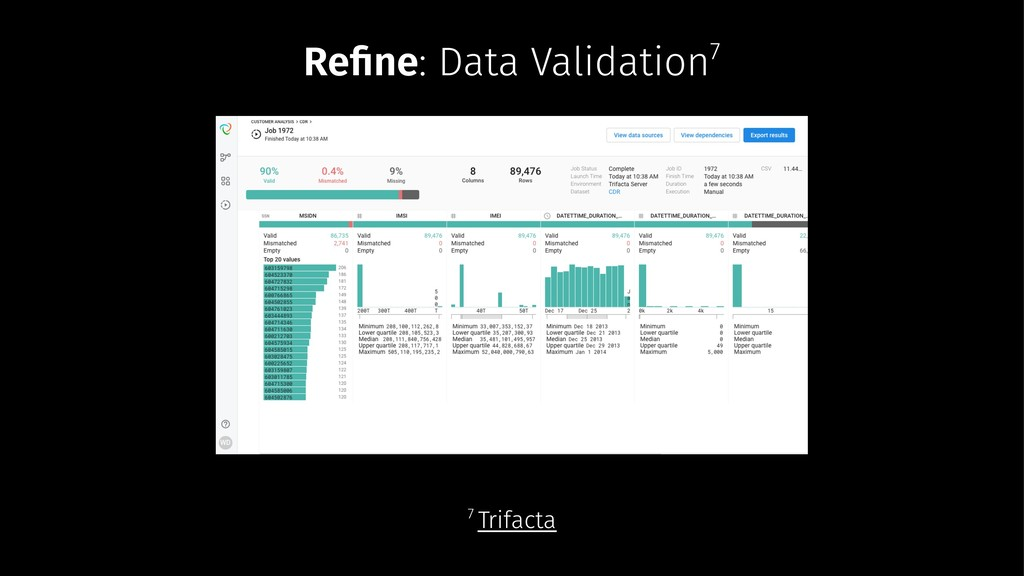Refine: Data Validation7 7 Trifacta