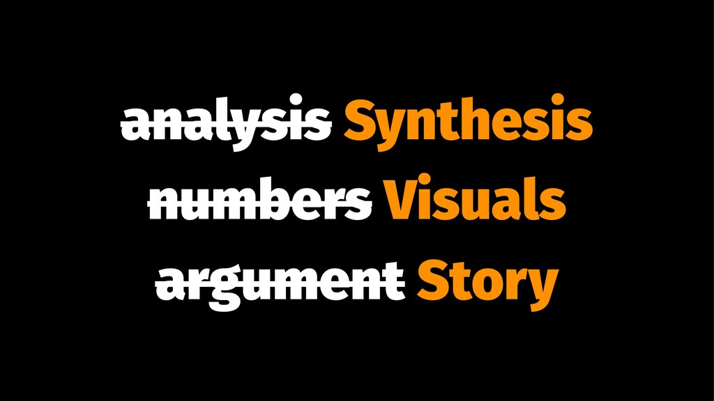 analysis Synthesis numbers Visuals argument Sto...