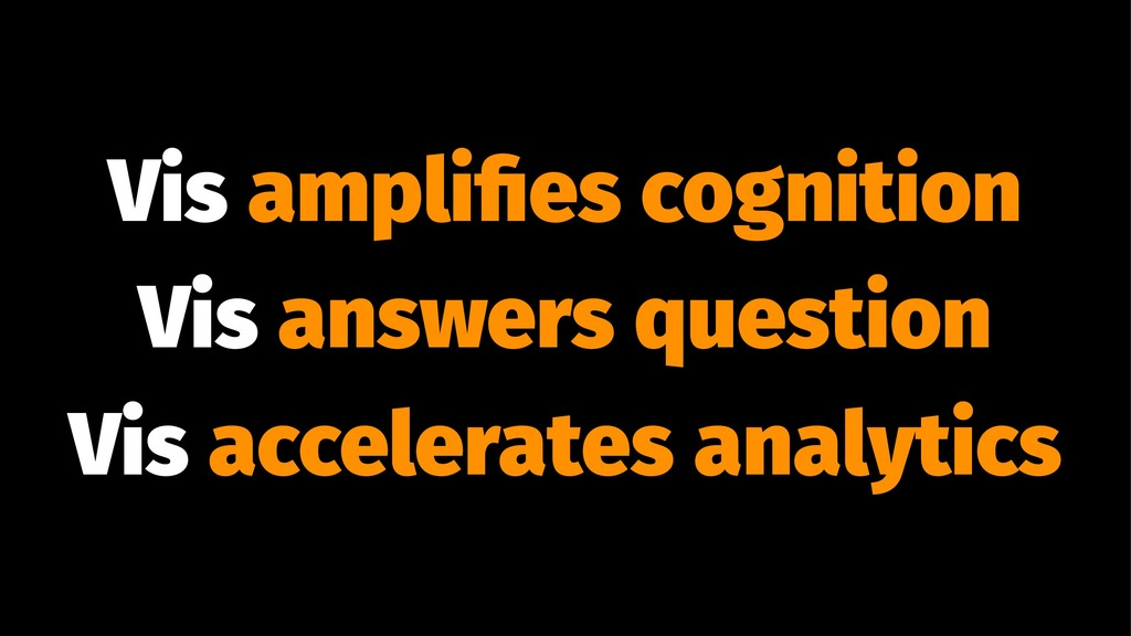 Vis amplifies cognition Vis answers question Vis...