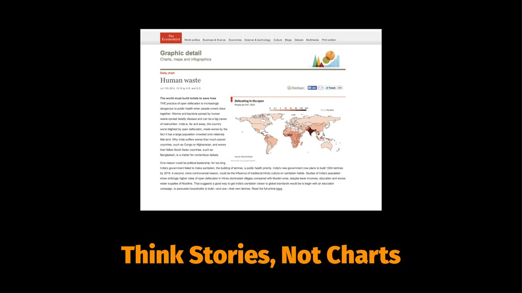 Think Stories, Not Charts