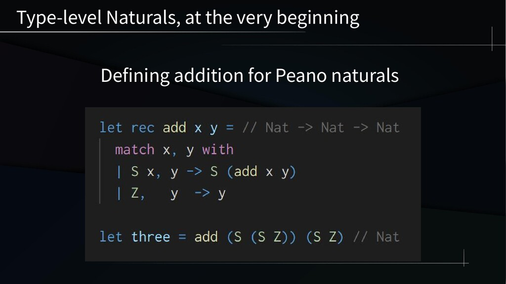 Type-level Naturals, at the very beginning Defi...