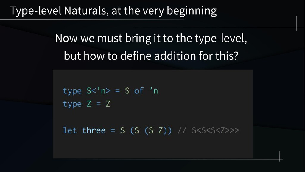 Type-level Naturals, at the very beginning Now ...