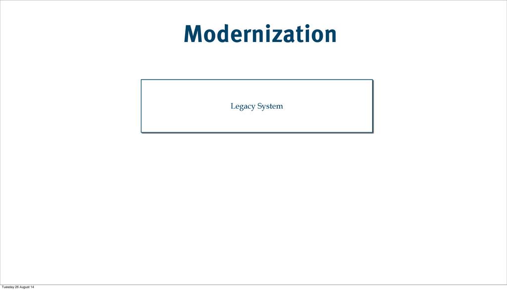 New System Legacy System Modernization Tuesday ...