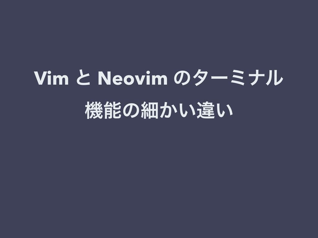 Vim ͱ Neovim ͷλʔϛφϧ ػͷࡉ͔͍ҧ͍