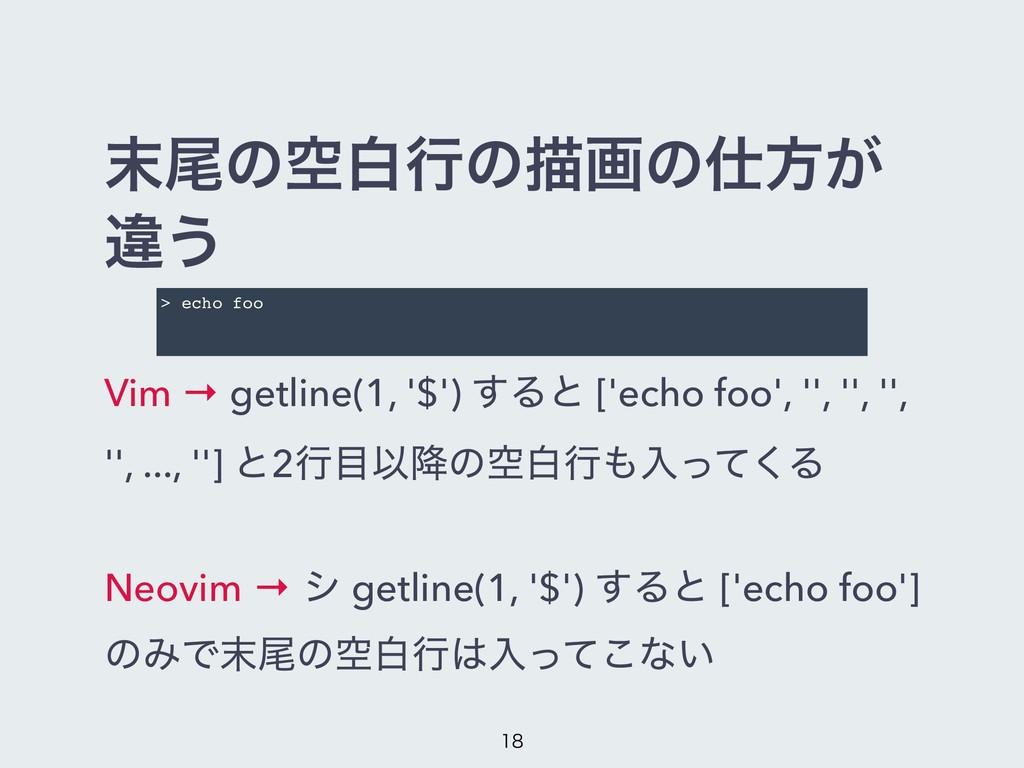 ඌͷۭനߦͷඳըͷํ͕ ҧ͏ Vim → getline(1, '$') ͢Δͱ ['ec...