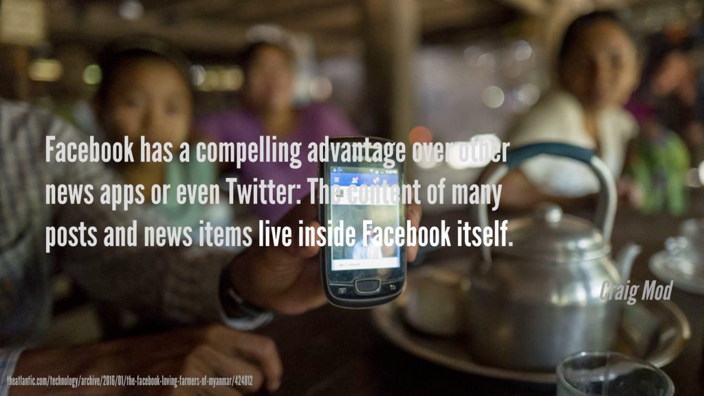 Facebook has a compelling advantage over other ...