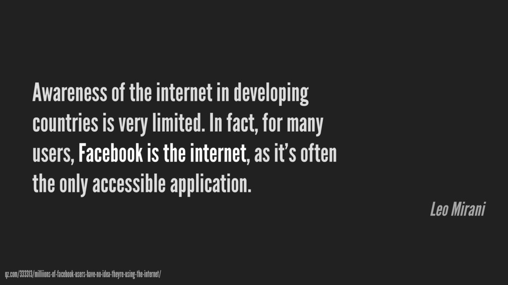 Awareness of the internet in developing countri...