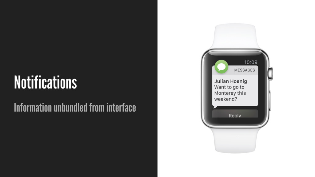 Notifications Information unbundled from interf...