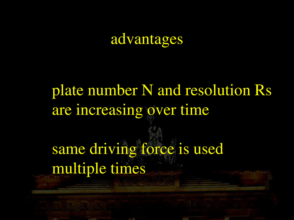 advantages plate number N and resolution Rs are...