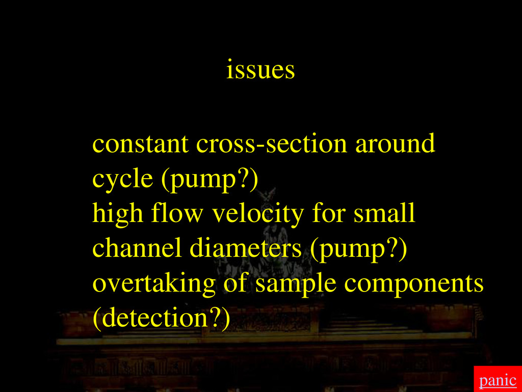 issues constant cross-section around cycle (pum...