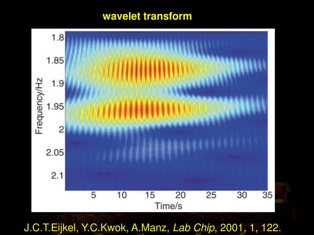 wavelet transform J.C.T.Eijkel, Y.C.Kwok, A.Man...